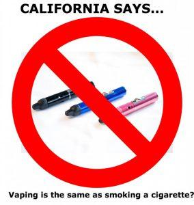 California Vaporizer Ban